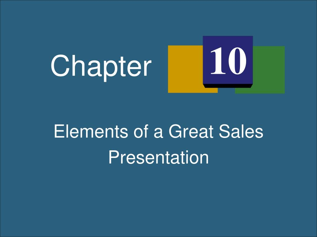 ppt elements of a great sales presentation powerpoint presentation