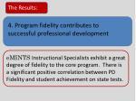 4 program fidelity contributes to successful professional development