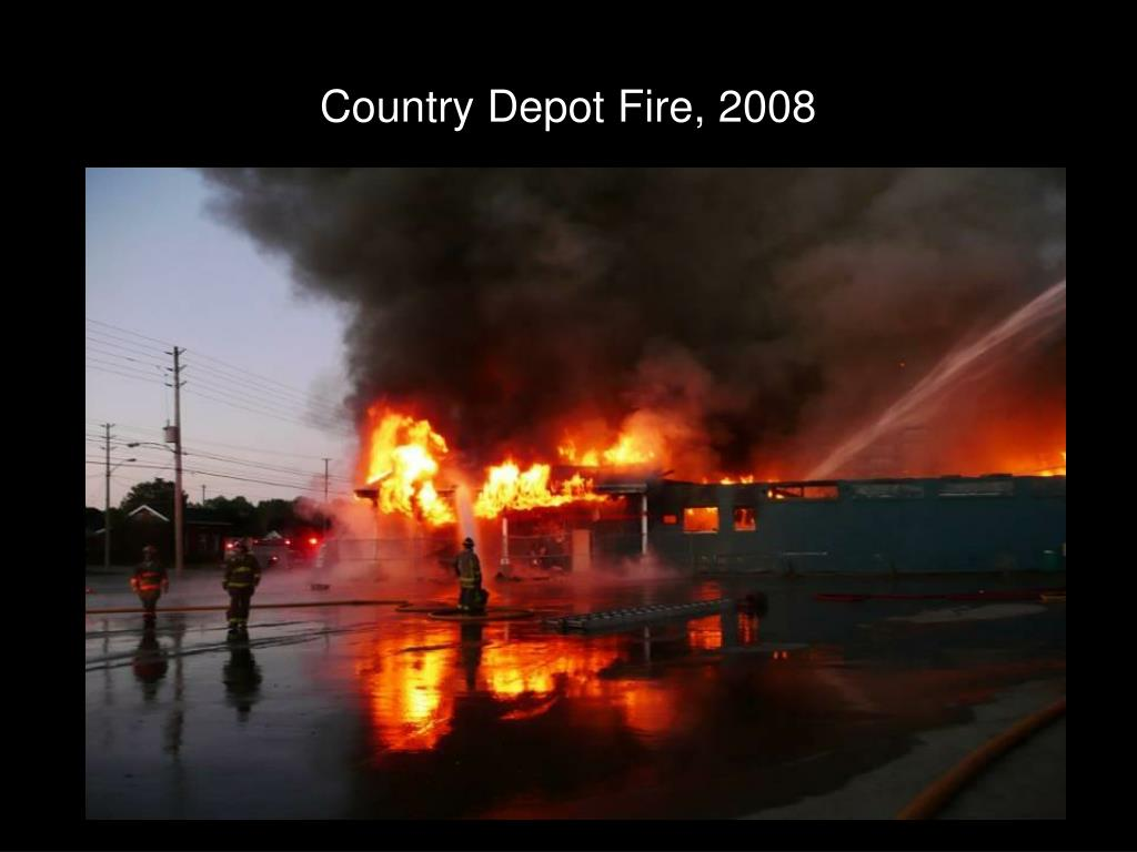 Country Depot Fire, 2008