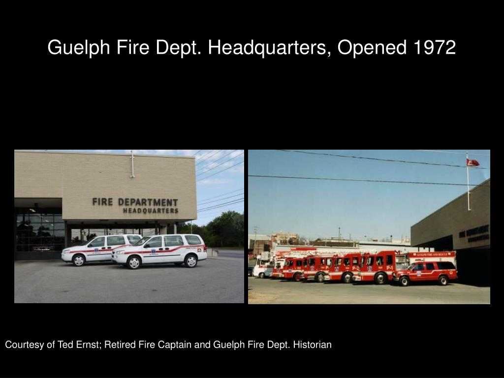 Guelph Fire Dept. Headquarters, Opened 1972