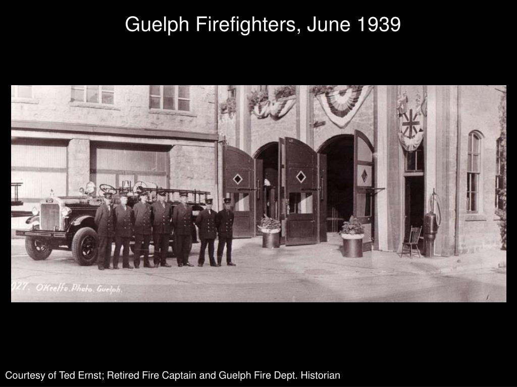Guelph Firefighters, June 1939