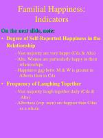 familial happiness indicators