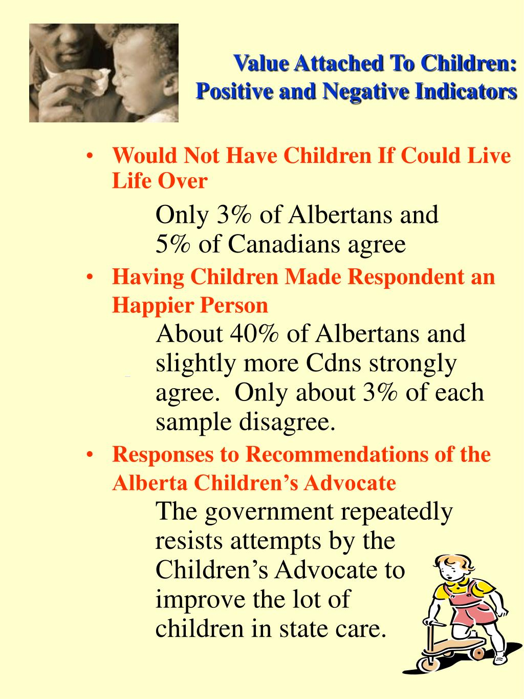 Value Attached To Children: