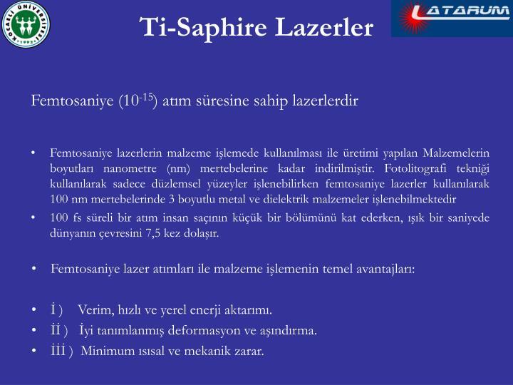 Ti-Saphire Lazerler