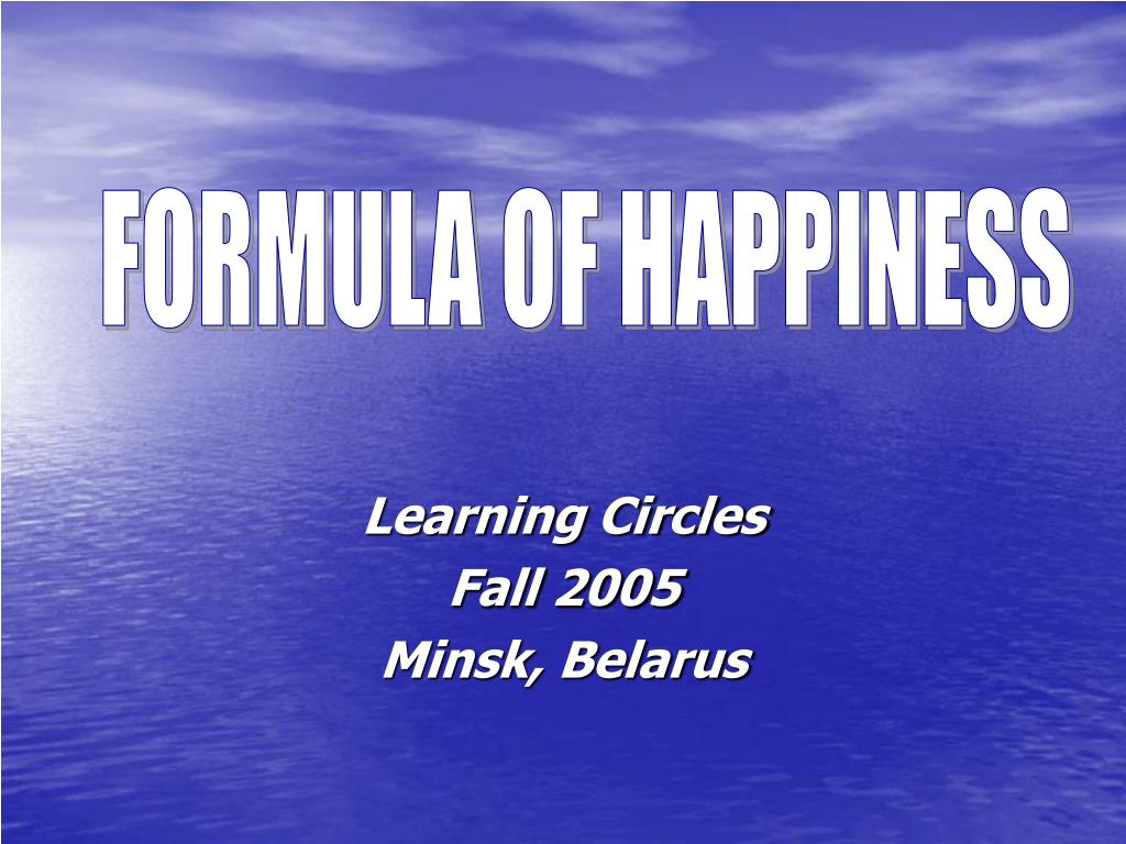 learning circles fall 2005 minsk belarus l.