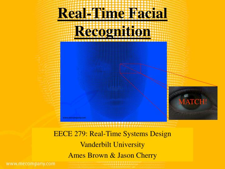 real time facial recognition n.