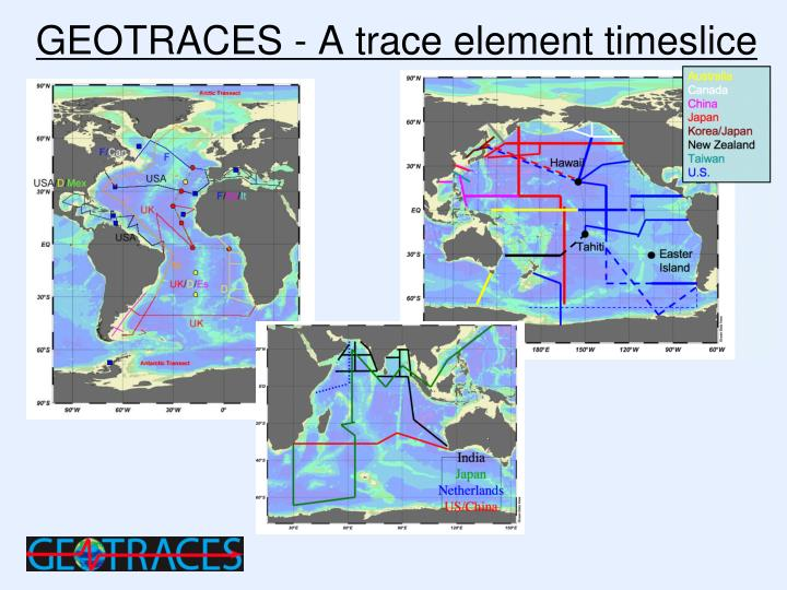 Geotraces a trace element timeslice
