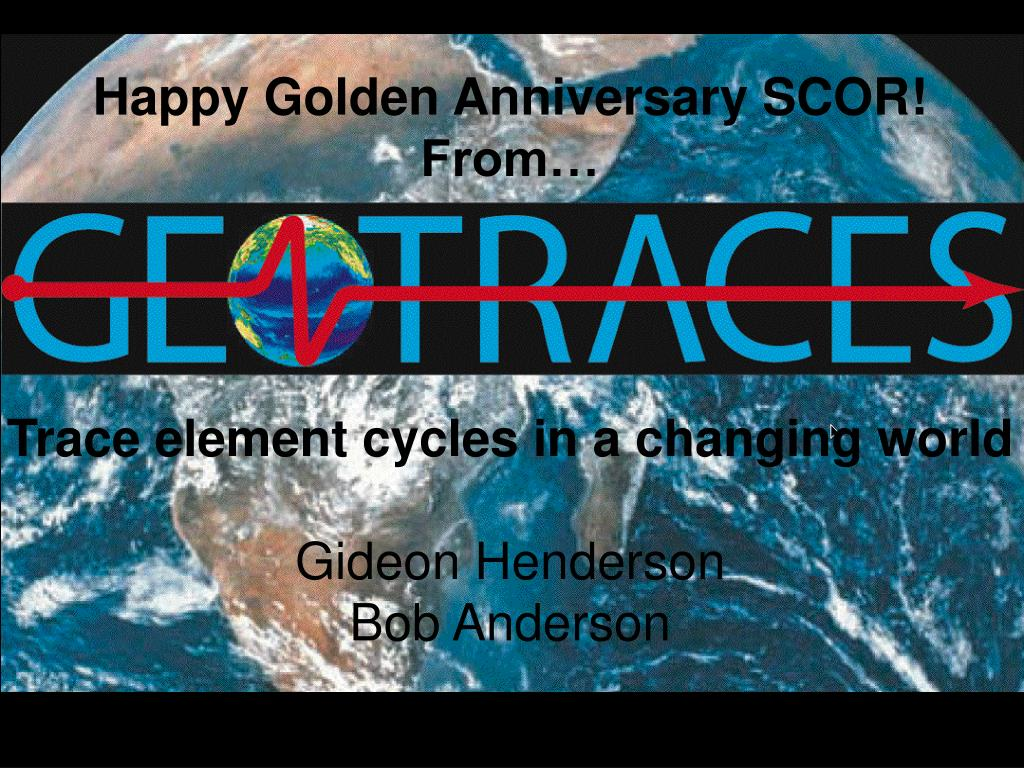 Happy Golden Anniversary SCOR!