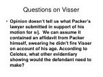 questions on visser