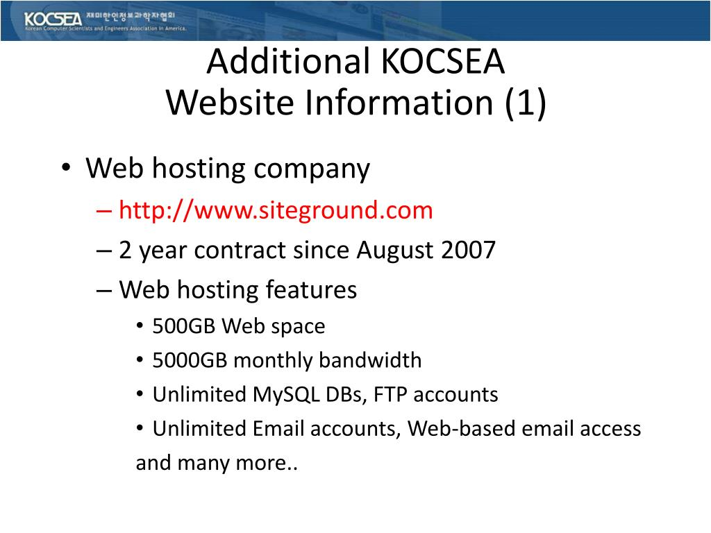 Additional KOCSEA