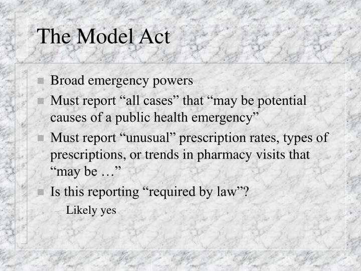 The Model Act