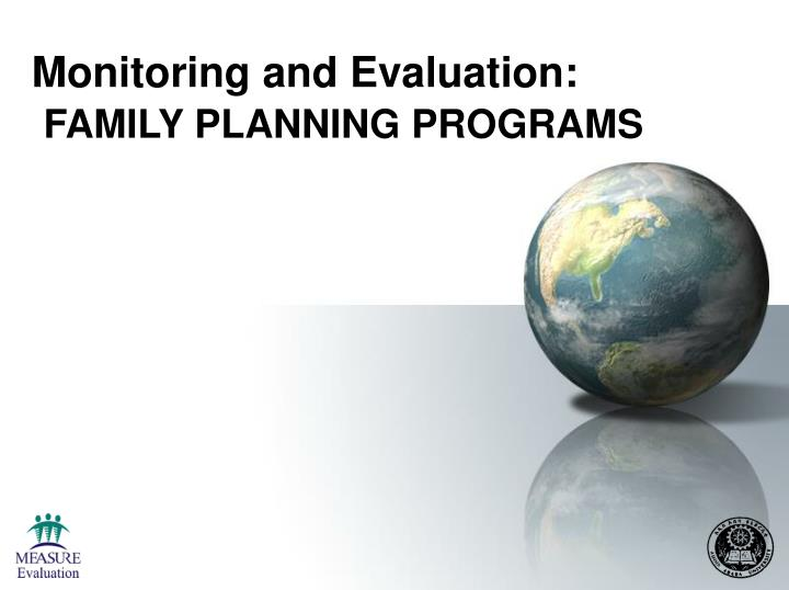monitoring and evaluation family planning programs n.