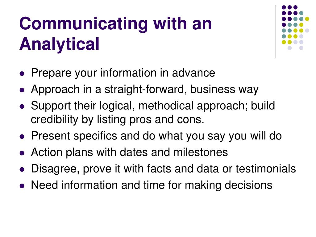 Communicating with an Analytical
