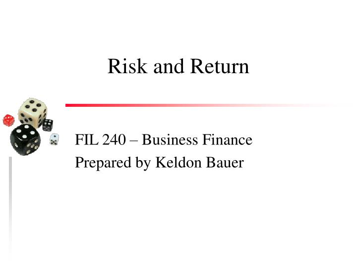 risk and return n.