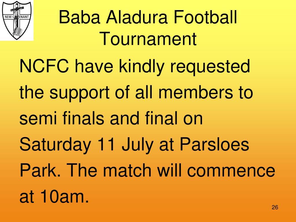 Baba Aladura Football Tournament