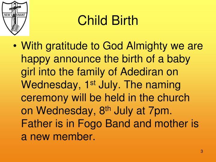 Child birth