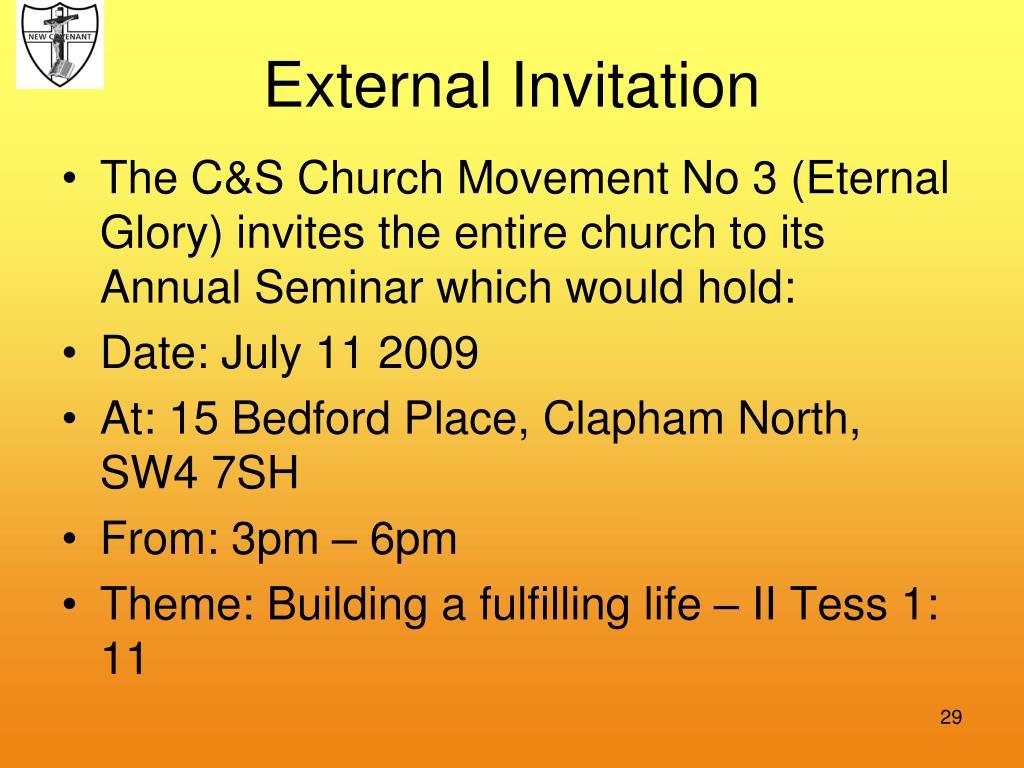 External Invitation