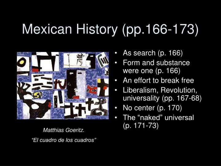 Mexican history pp 166 173