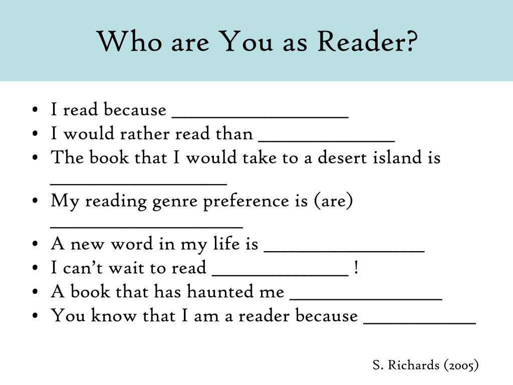 Who are You as Reader?