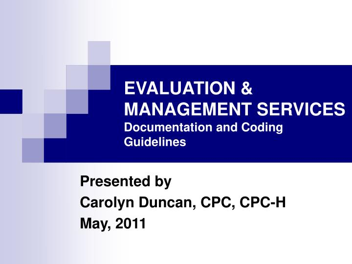 evaluation management services documentation and coding guidelines n.