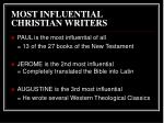 most influential christian writers