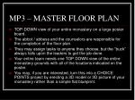 mp3 master floor plan
