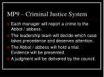 mp9 criminal justice system