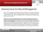 business cases for record management