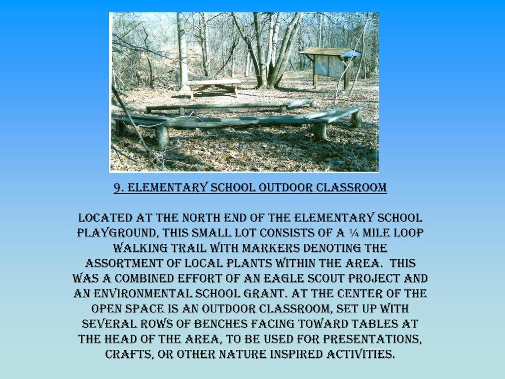 9. Elementary School Outdoor Classroom