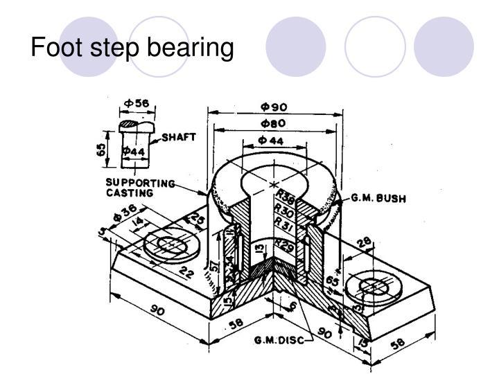 Foot step bearing