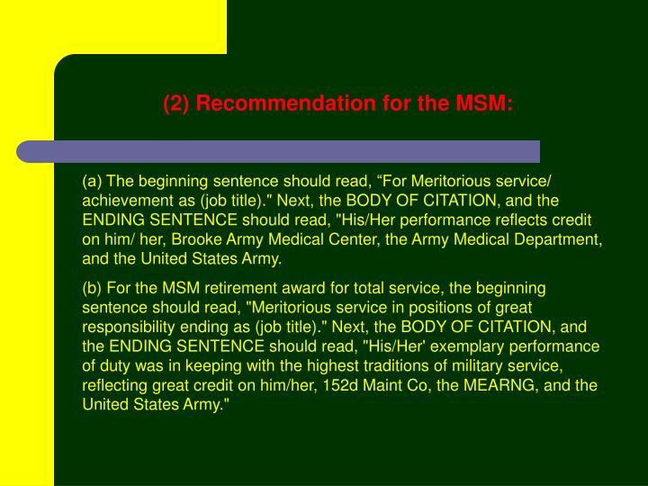 slide13-n Army Da Form Proposed Citation Example on internal citation examples, army plaque citation examples, arcom citation examples,