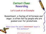 context clues rewording7