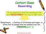 context clues rewording9