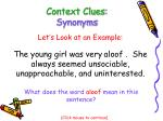 context clues synonyms13