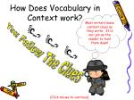 how does vocabulary in context work