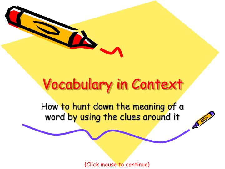 vocabulary in context n.