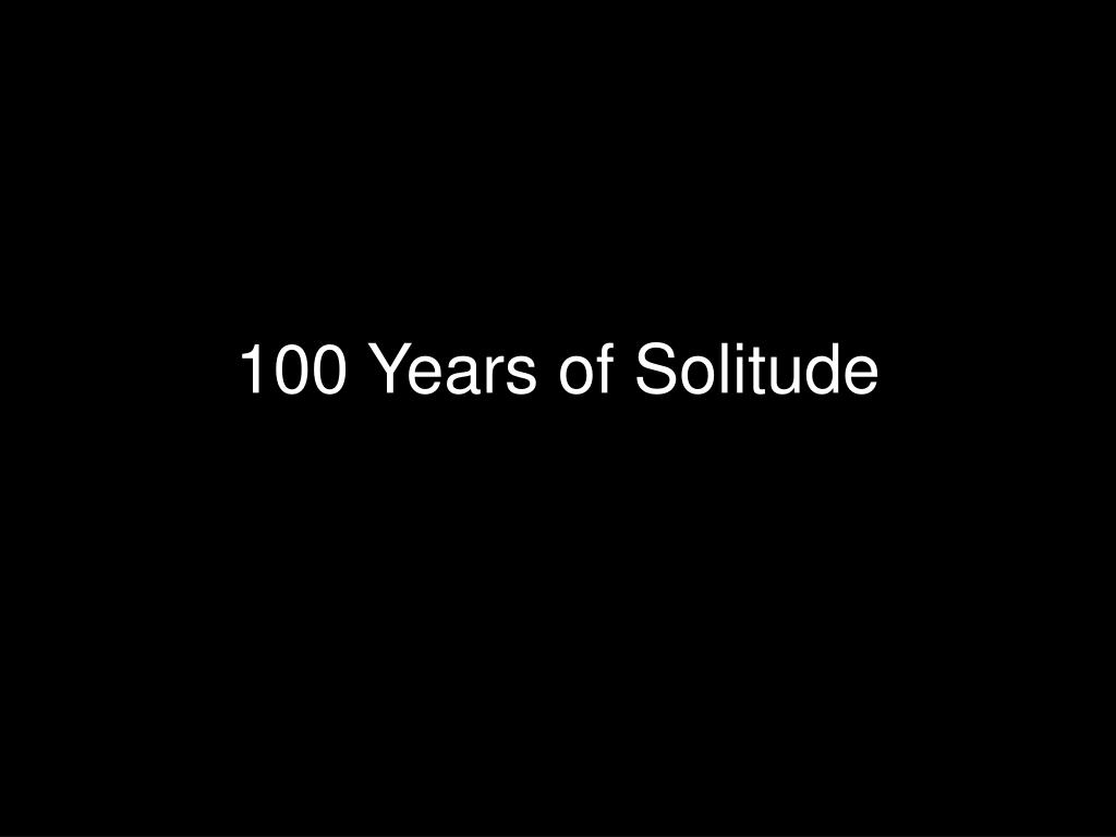 100 years of solitude l.
