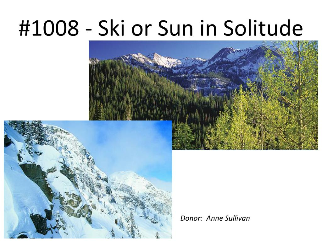 #1008 - Ski or Sun in Solitude