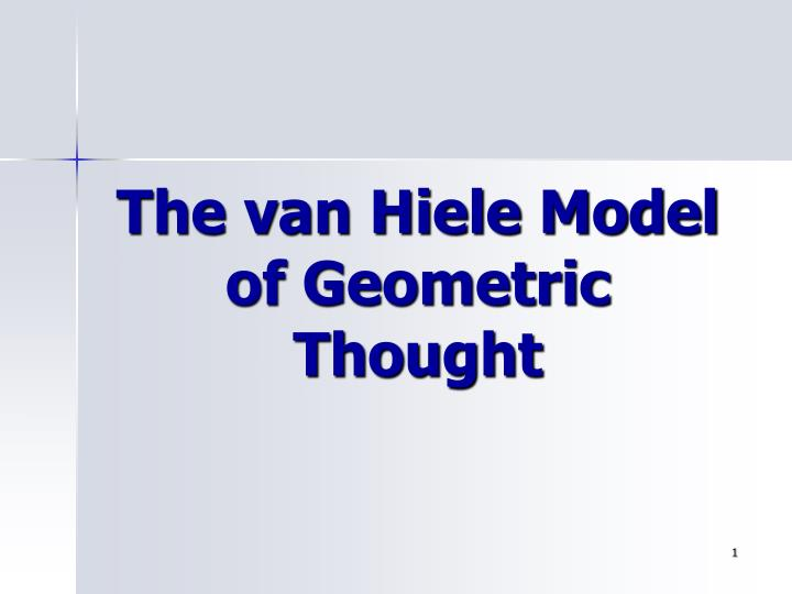 Ppt The Van Hiele Model Of Geometric Thought Powerpoint