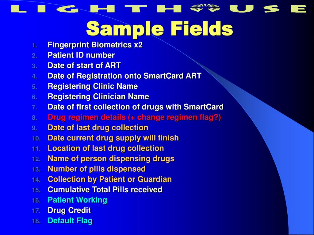 Sample Fields