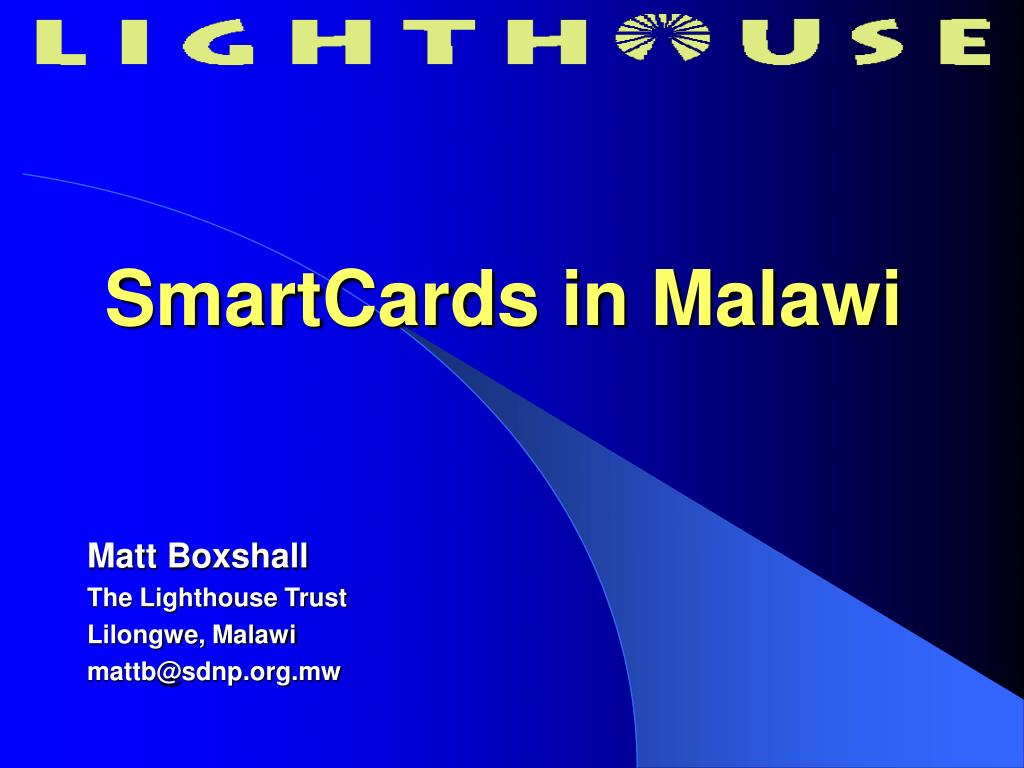 SmartCards in Malawi
