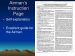 airman s instruction page