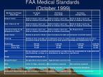 faa medical standards october 1999