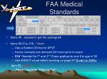 faa medical standards