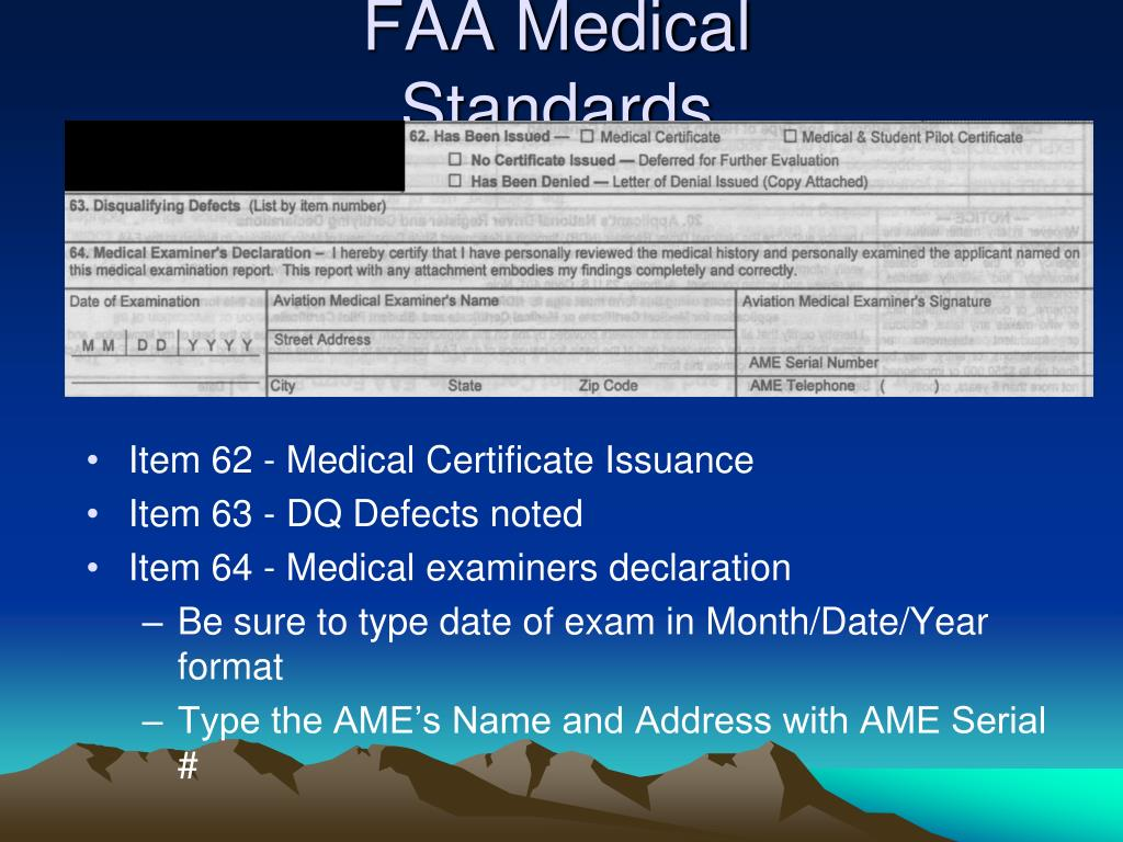 PPT - Aviation Medical Exams PowerPoint Presentation - ID