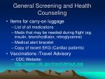 general screening and health counseling2
