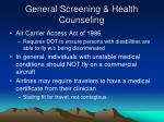 general screening health counseling