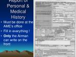 report of personal medical history1