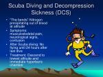scuba diving and decompression sickness dcs