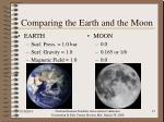 comparing the earth and the moon17